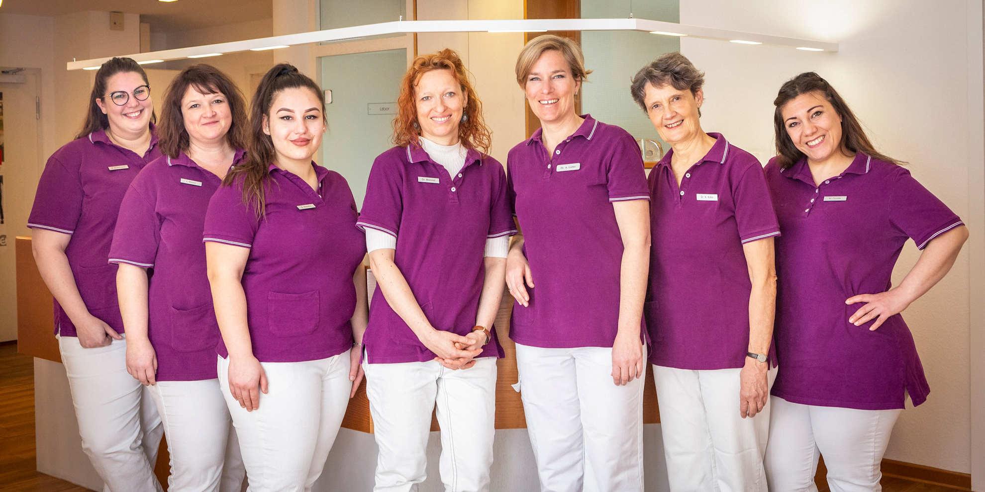 Team der Frauenarzt-Praxis Dr. Lieber in Tübingen